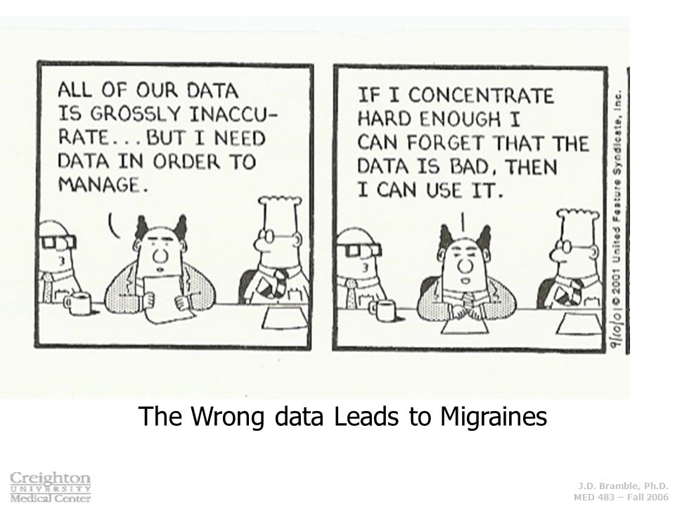 The Wrong data Leads to Migraines