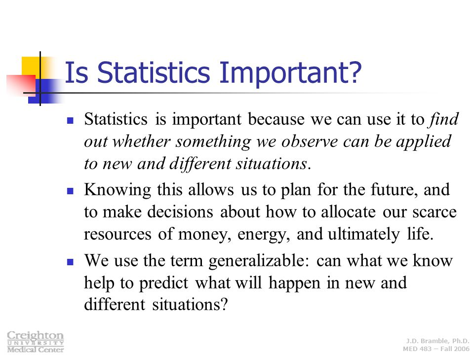 Is Statistics Important