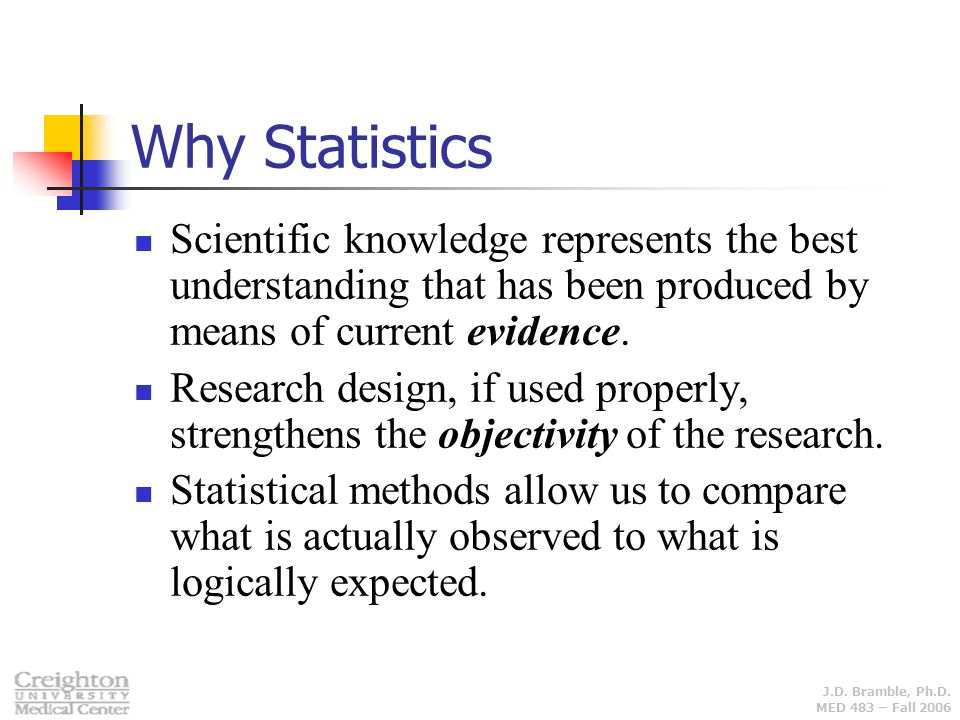 Why Statistics Scientific knowledge represents the best understanding that has been produced by means of current evidence.