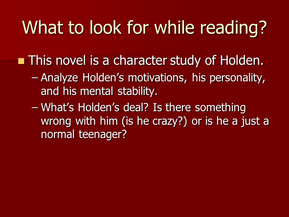 What to look for while reading