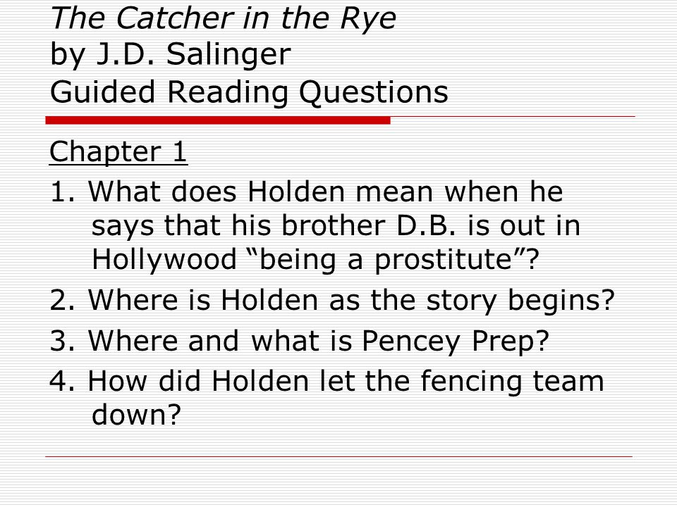 holden caulfield prostitute