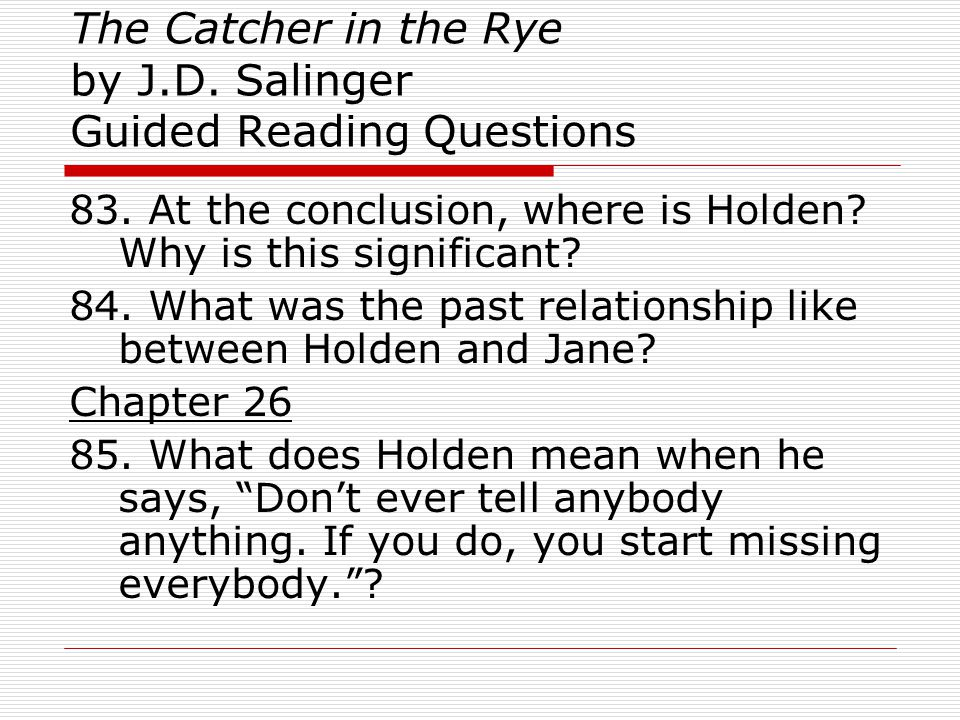 catcher in the rye relationship between holden and phoebe