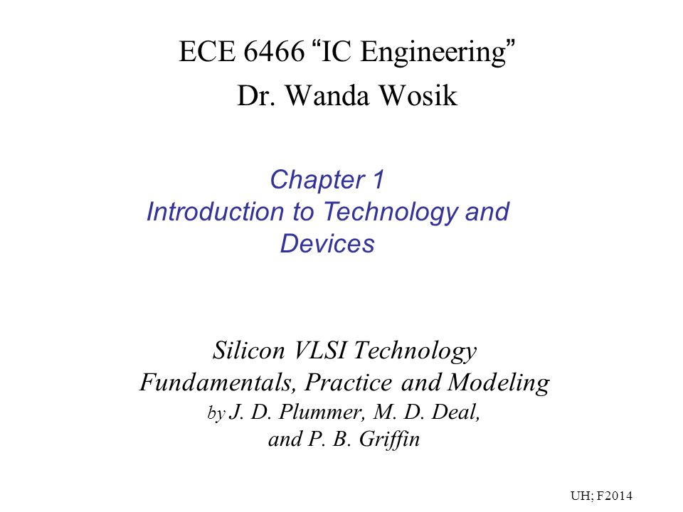 ECE 6466 IC Engineering Dr. Wanda Wosik