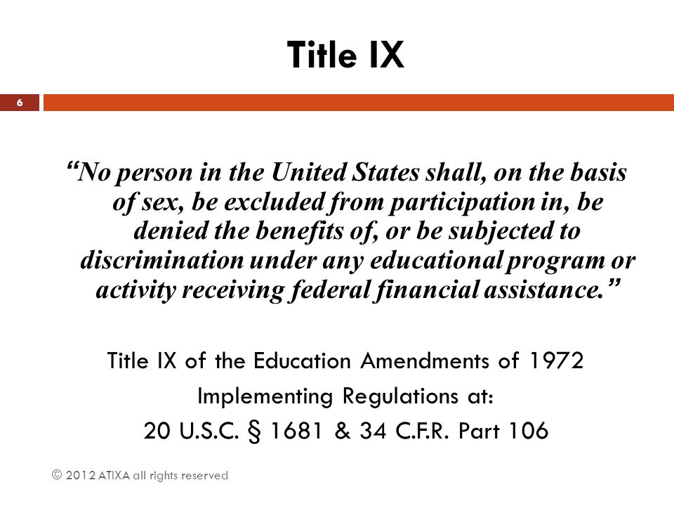 title ix research paper not a Title ix has an effect on women who are not athletes in many ways, including   title ix research paper december 11 daniel rose history title vi of the civil.