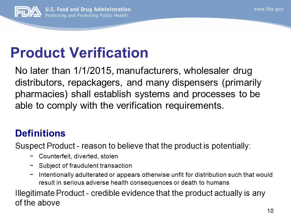 Product Verification