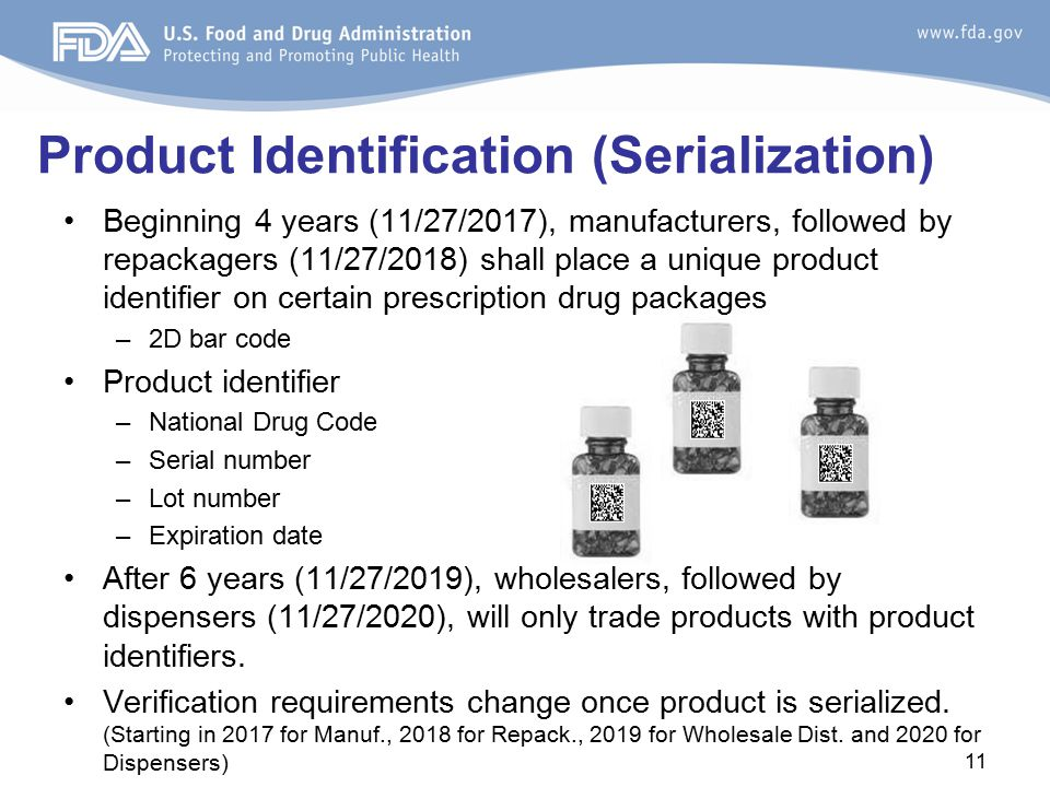 Product Identification (Serialization)
