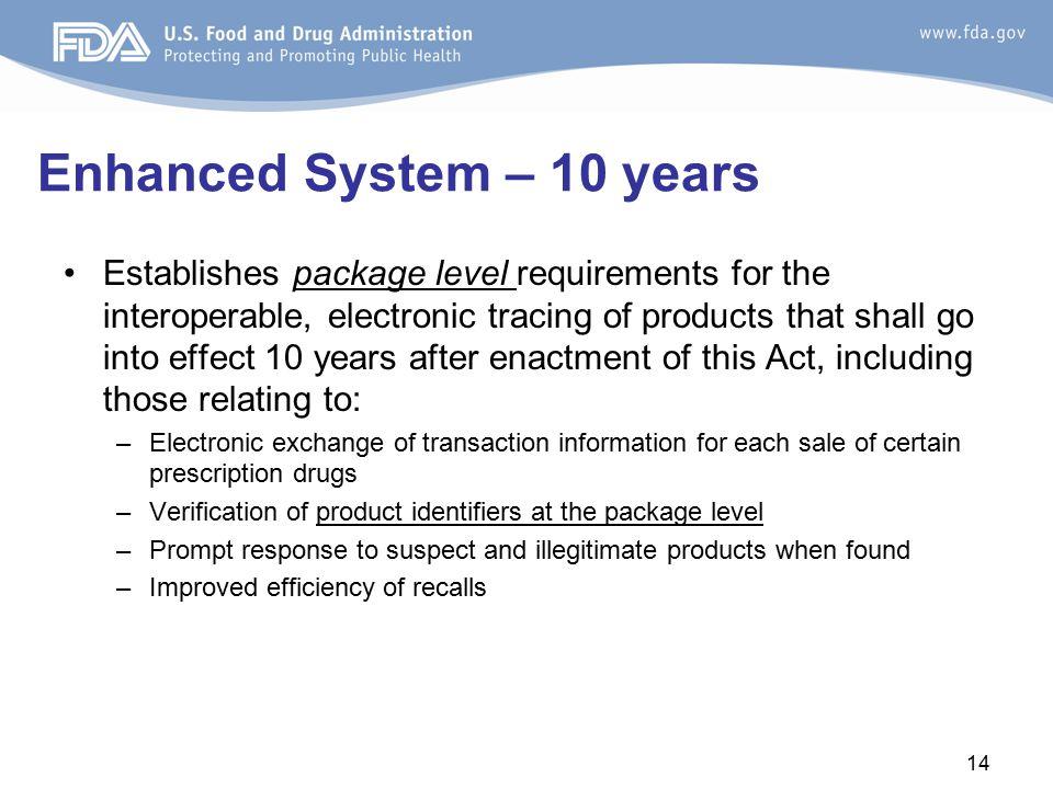 Enhanced System – 10 years