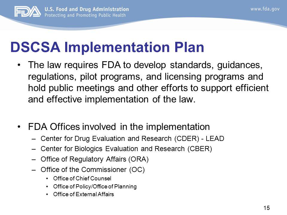DSCSA Implementation Plan