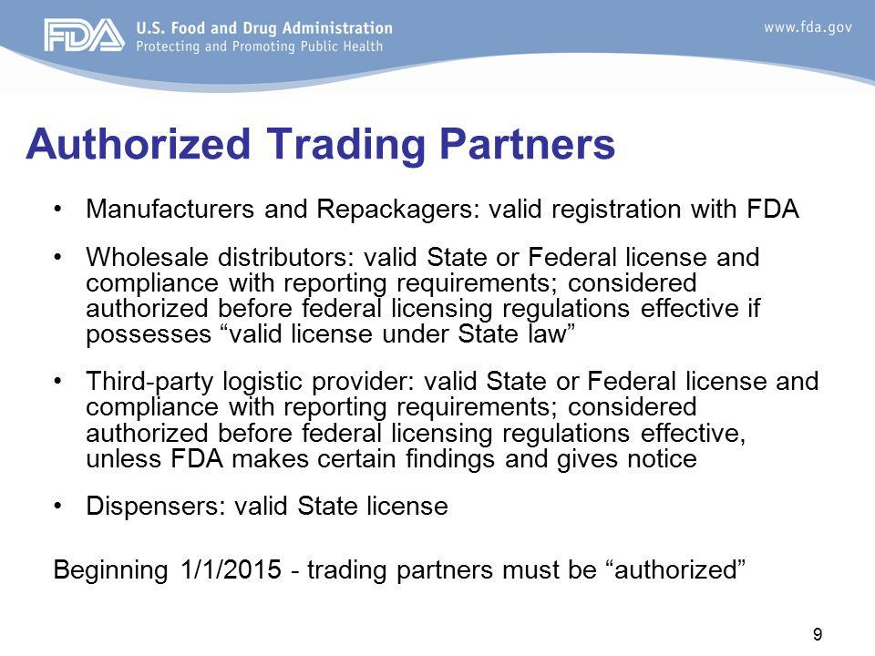 Authorized Trading Partners