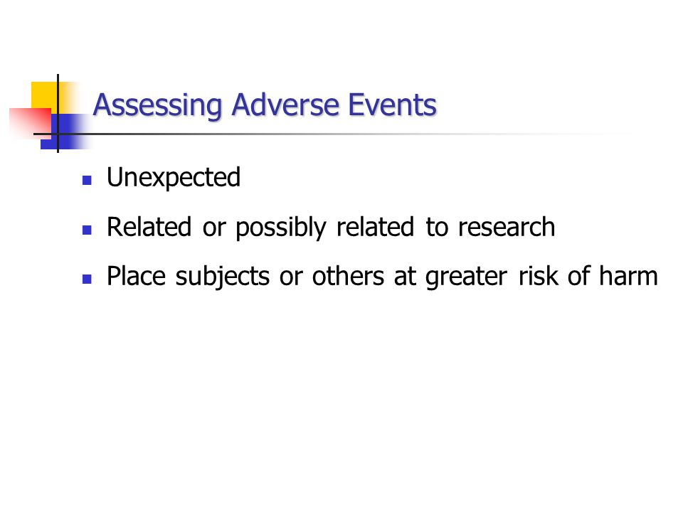 Assessing Adverse Events