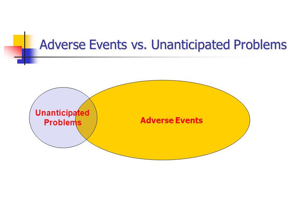 Adverse Events vs. Unanticipated Problems