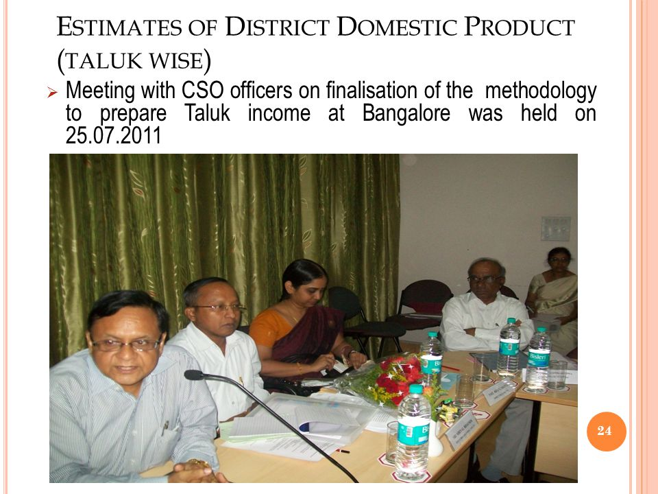 Estimates of District Domestic Product (taluk wise)