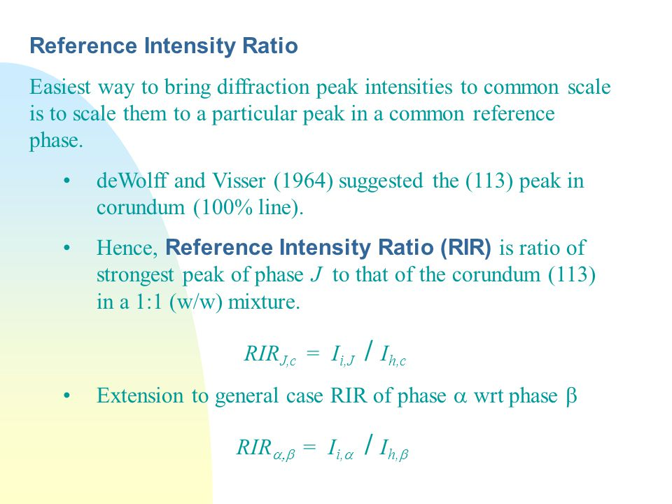 Reference Intensity Ratio