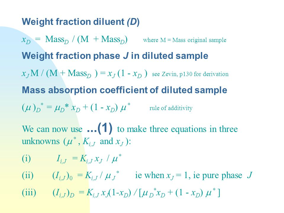 Weight fraction diluent (D)