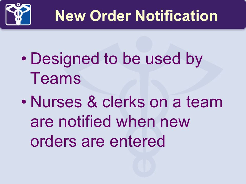 New Order Notification