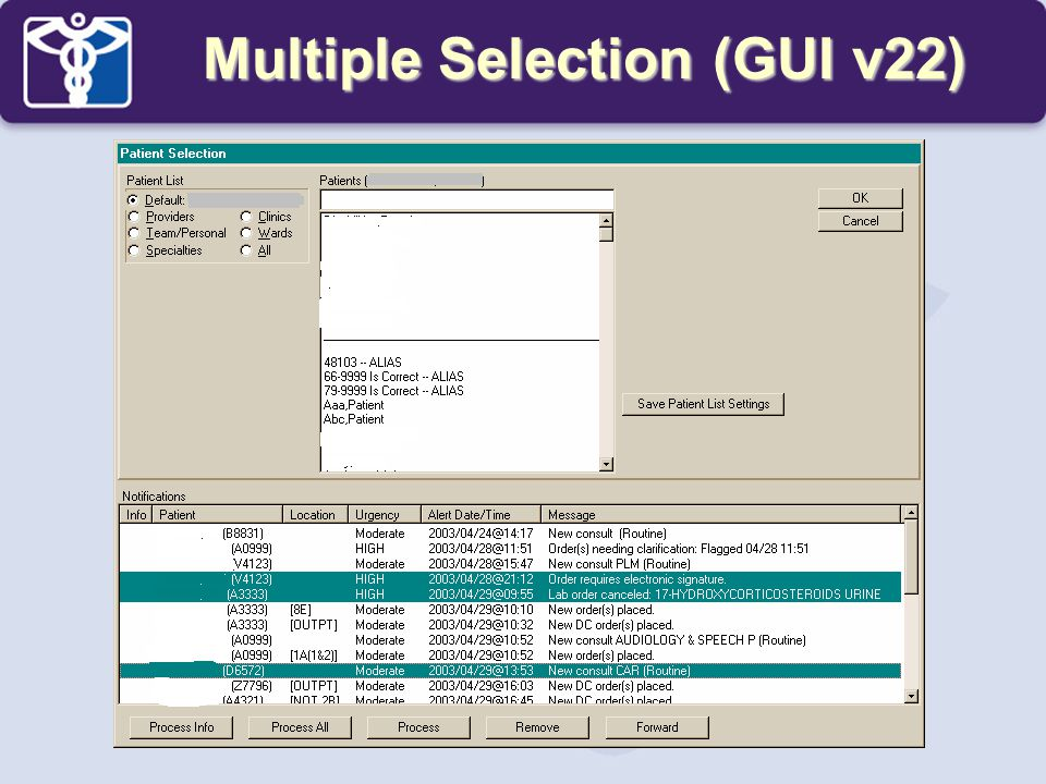 Multiple Selection (GUI v22)