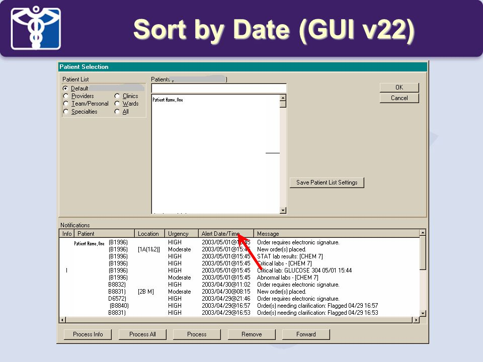 Sort by Date (GUI v22)