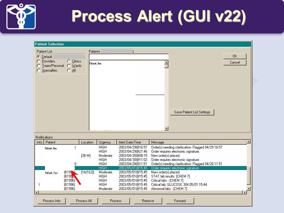Process Alert (GUI v22)