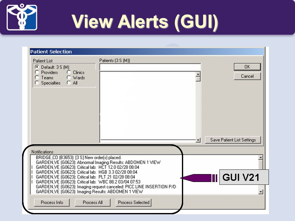 View Alerts (GUI)