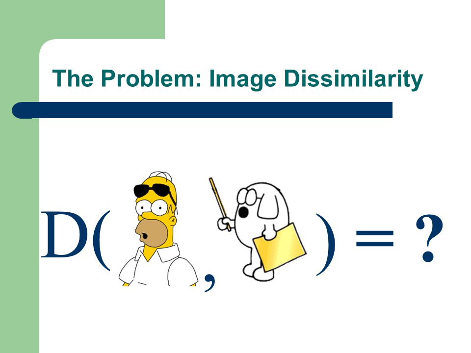 The Problem: Image Dissimilarity