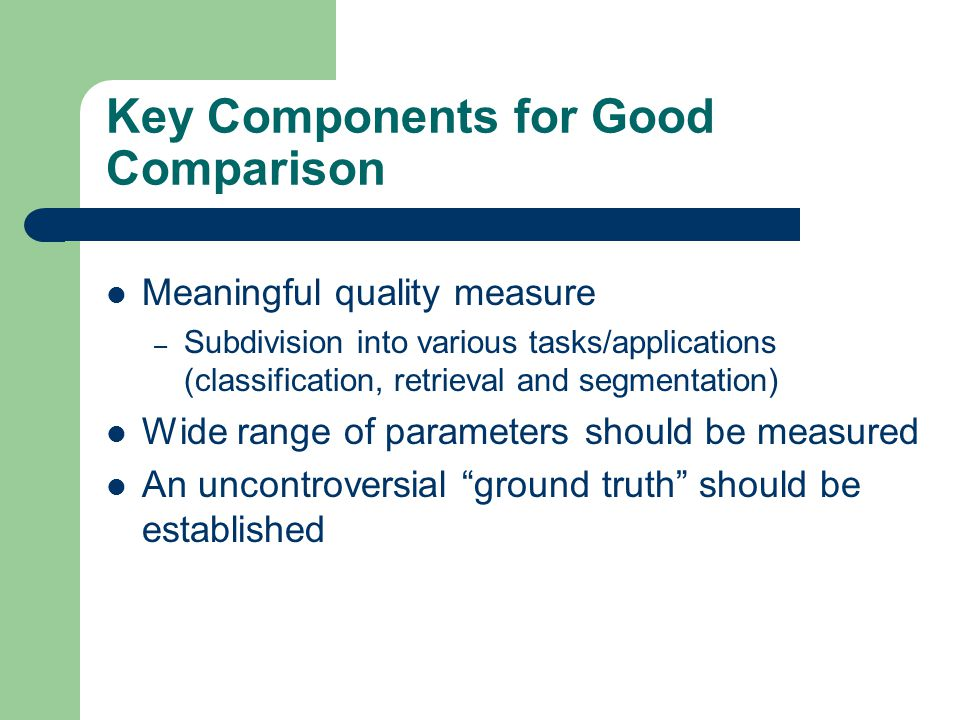 Key Components for Good Comparison