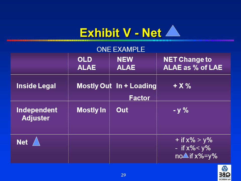 Exhibit V - Net ONE EXAMPLE