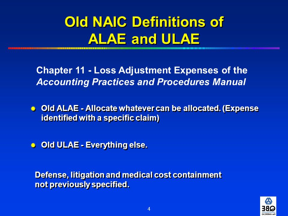Old NAIC Definitions of ALAE and ULAE