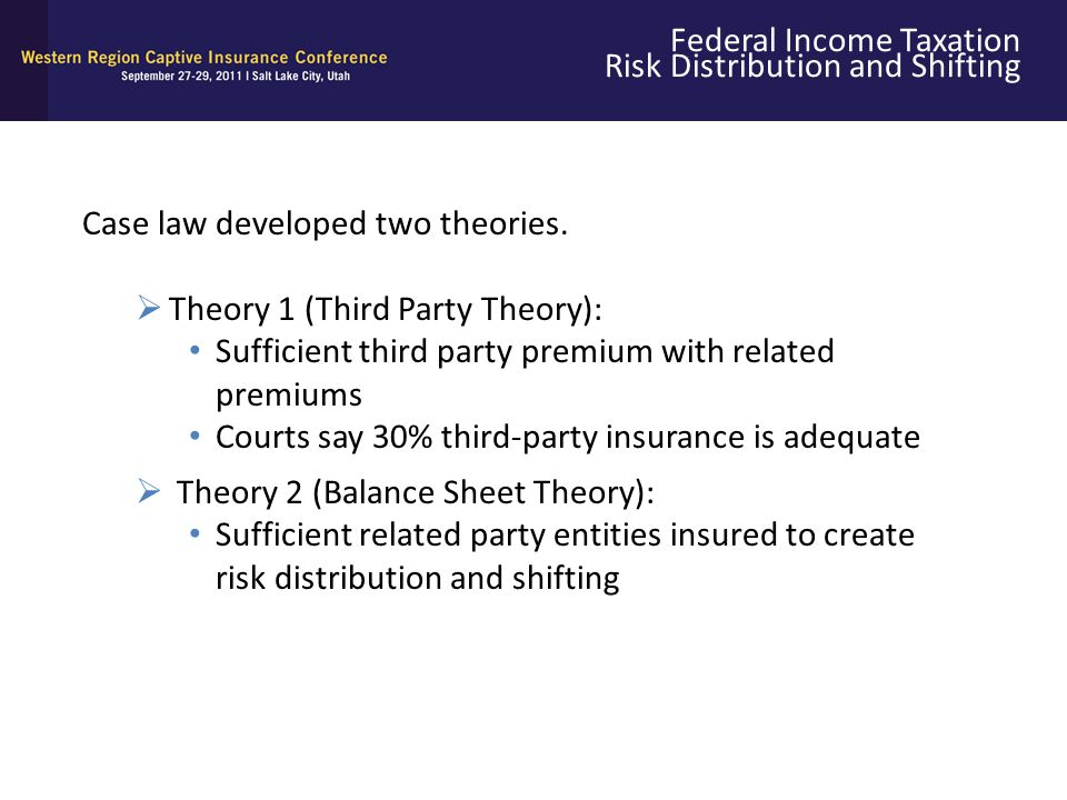 Federal Income Taxation Risk Distribution and Shifting