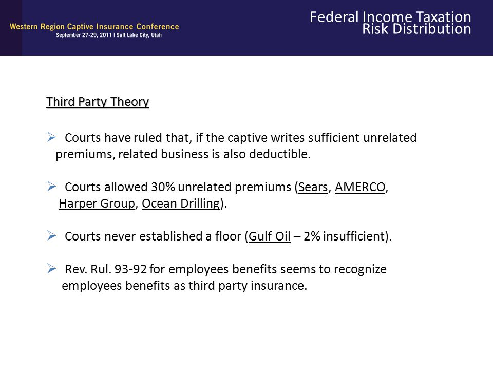 Federal Income Taxation Risk Distribution