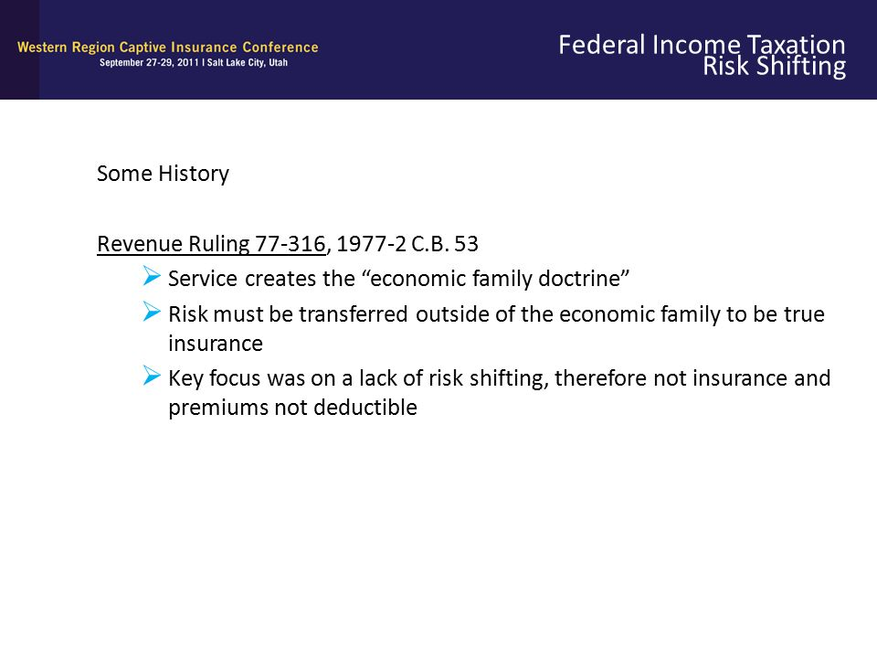 Federal Income Taxation Risk Shifting