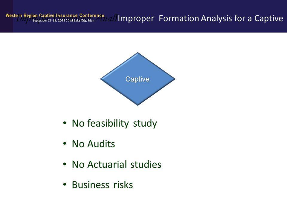 Improper Formation AnalIImproper Formation Analysis for a Captive