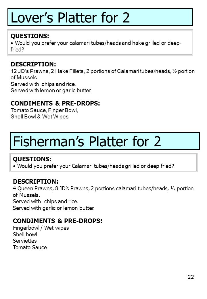 Fisherman's Platter for 2