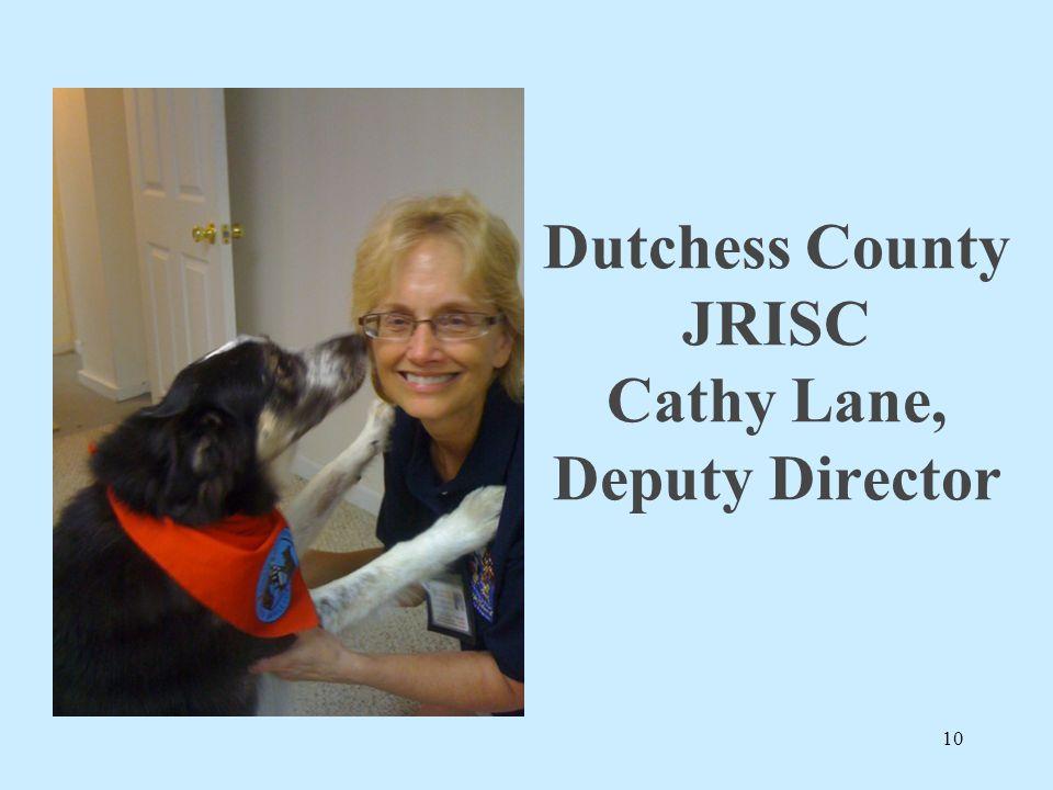 Dutchess County JRISC Cathy Lane, Deputy Director