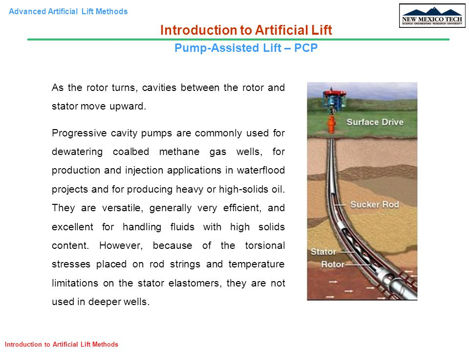 Introduction to Artificial Lift Pump-Assisted Lift – PCP