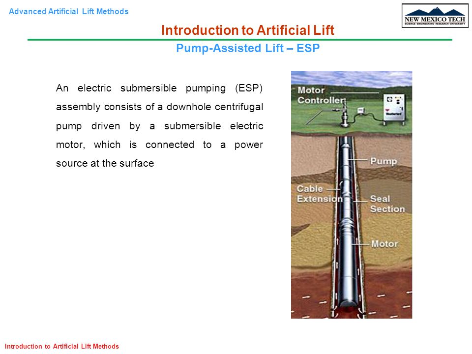 Introduction to Artificial Lift Pump-Assisted Lift – ESP
