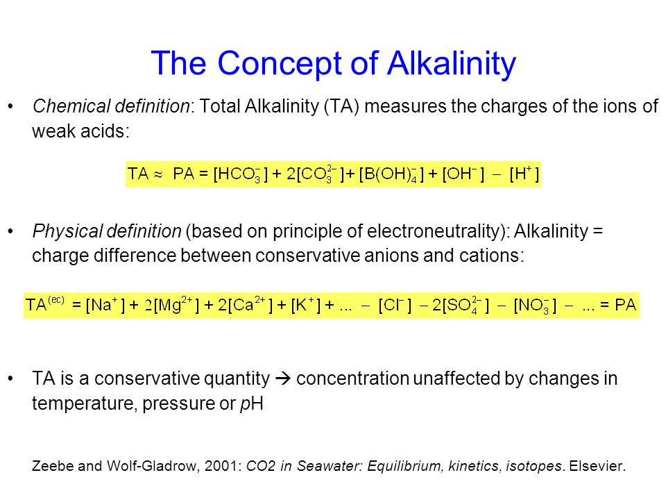 The Concept of Alkalinity