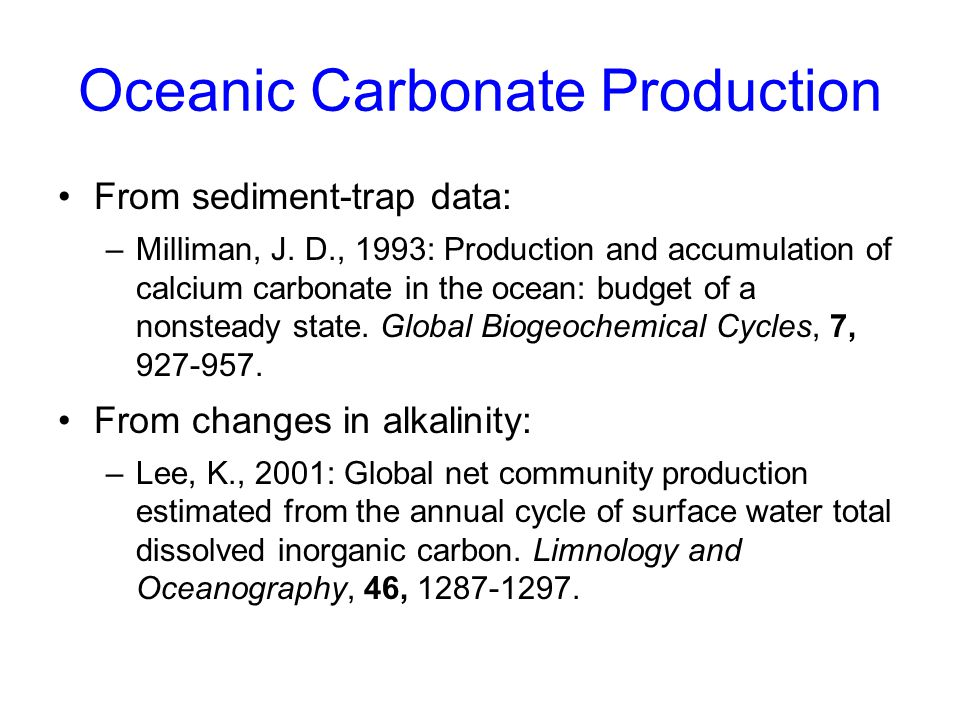 Oceanic Carbonate Production