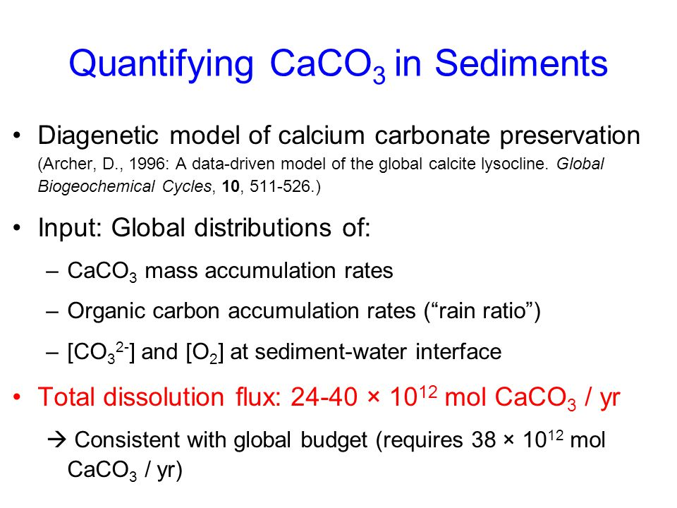 Quantifying CaCO3 in Sediments