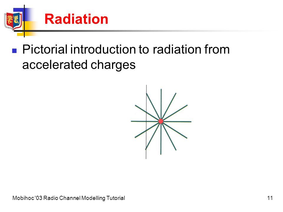 Radiation Pictorial introduction to radiation from accelerated charges