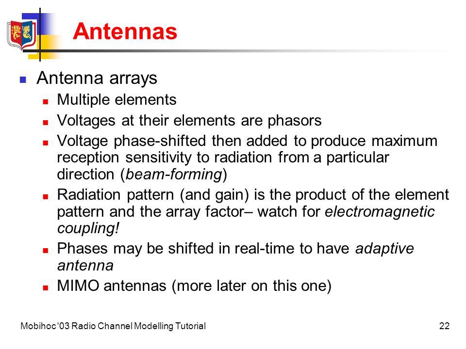 Antennas Antenna arrays Multiple elements