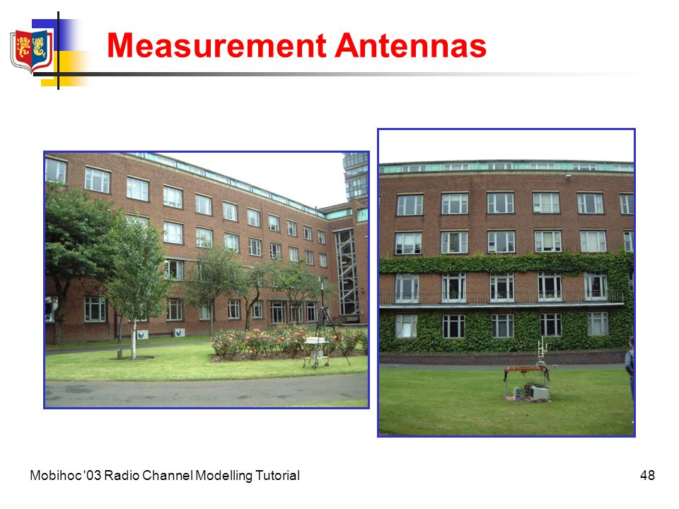 Measurement Antennas Mobihoc 03 Radio Channel Modelling Tutorial