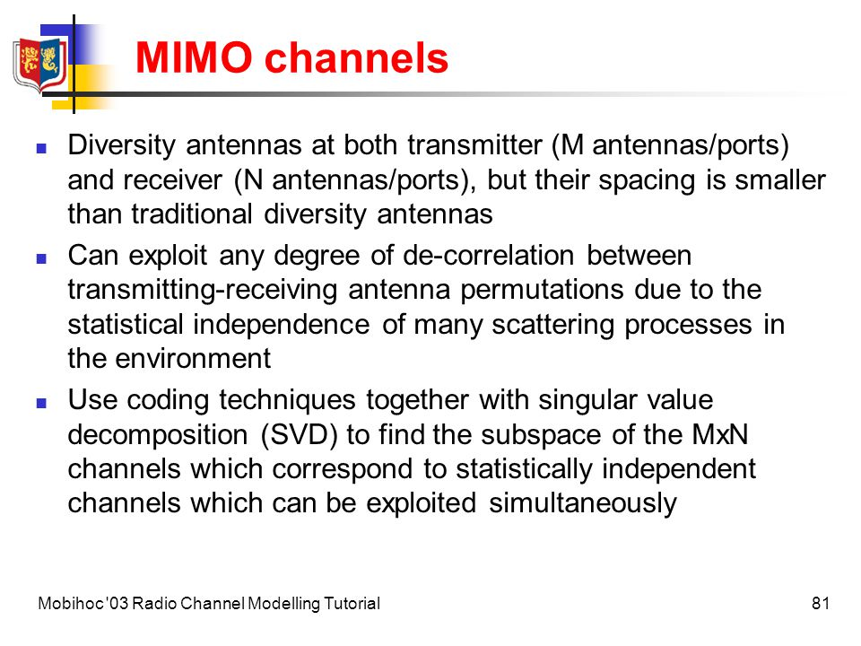 MIMO channels