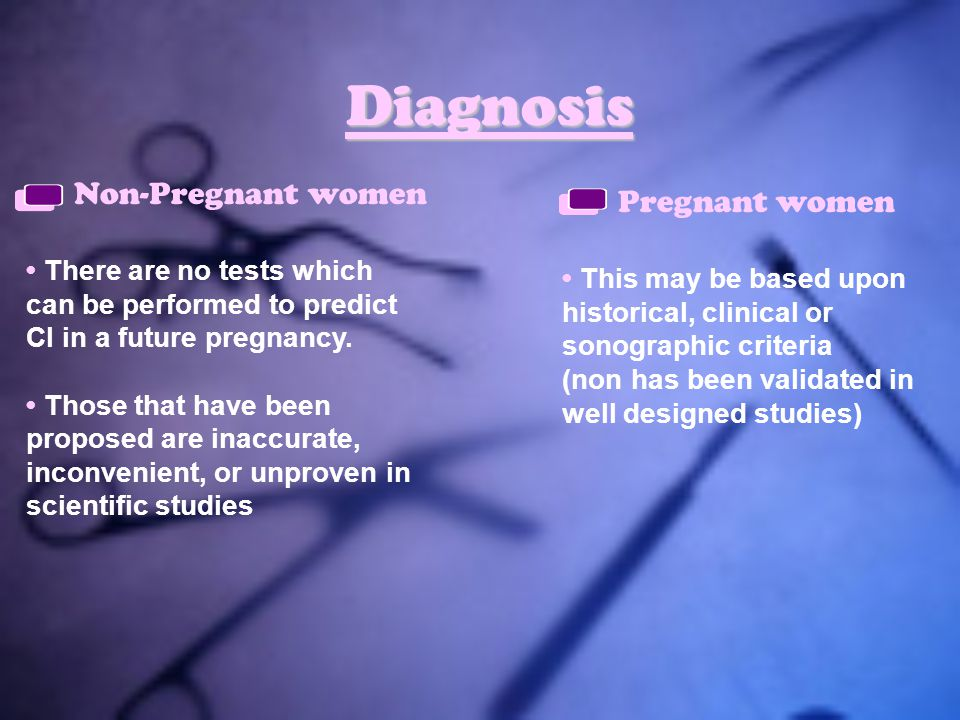 Diagnosis Non-Pregnant women Pregnant women