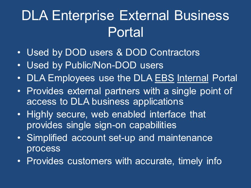 DLA Enterprise External Business Portal