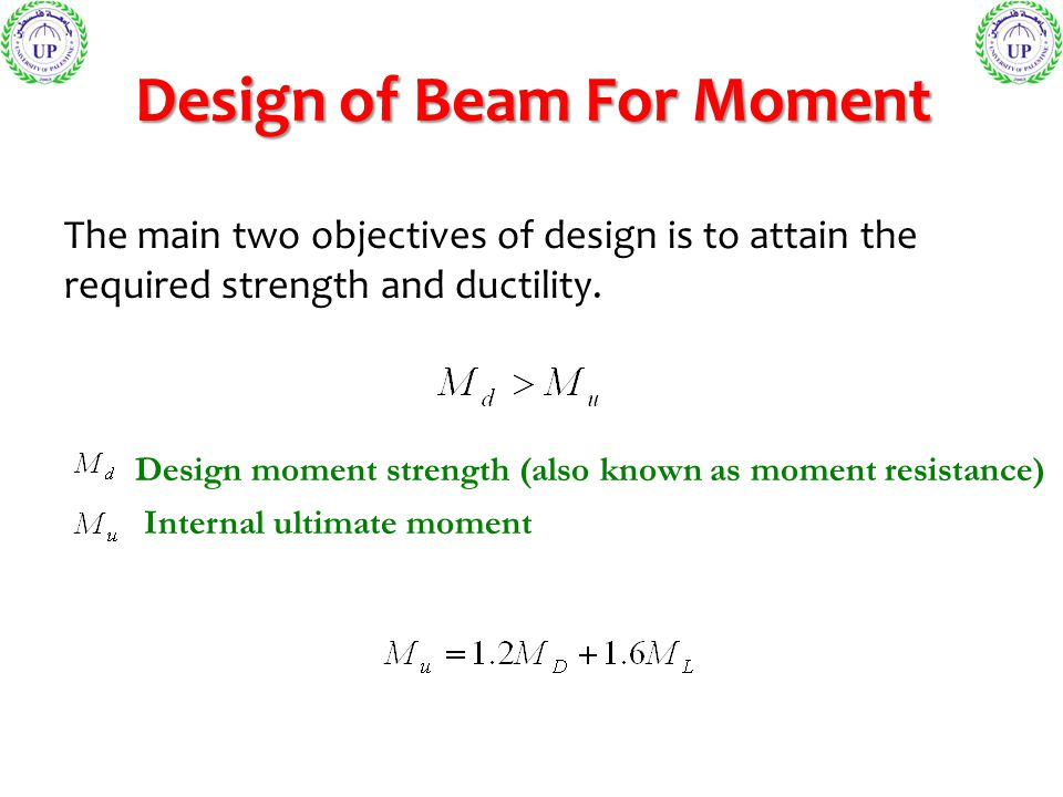 Design of Beam For Moment