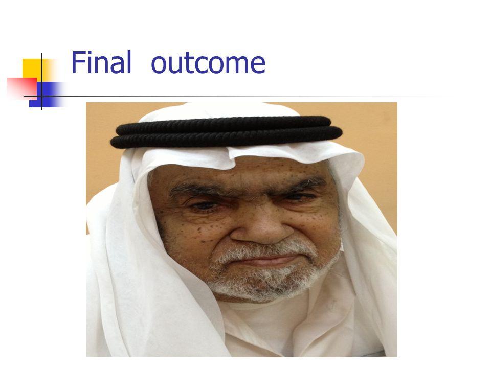 Final outcome