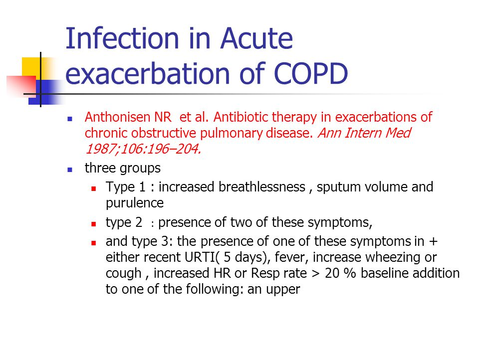 Infection in Acute exacerbation of COPD