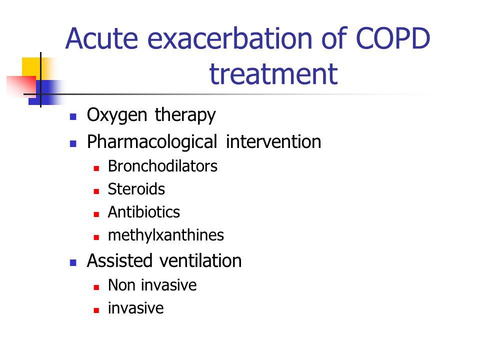 Acute exacerbation of COPD treatment