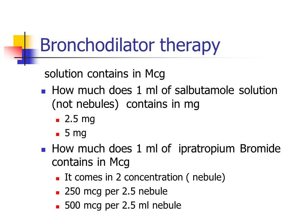 Bronchodilator therapy