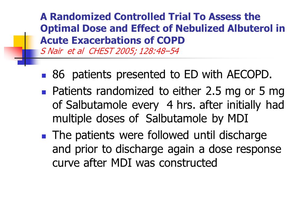 86 patients presented to ED with AECOPD.